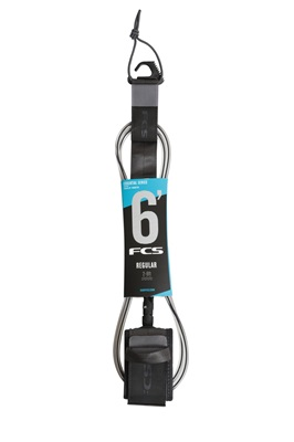 Picture of FCS Regular Surf Leash 6ft Coal